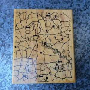Stampin Up Highways & Byways Rubber Stamp
